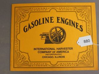 INTERNATIONAl HARVESTER GASOlINE ENGINES BOOK