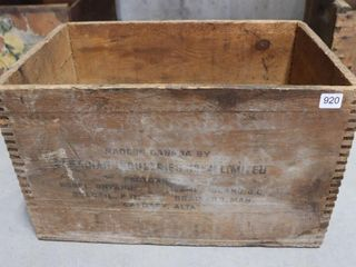 CANADAIN INDUSTRIES AMMUNITION BOX 18 X12 X10