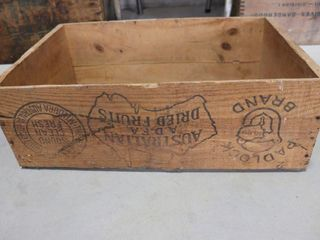 AUSTRAIlAIN DRIED FRUITS WOOD CRATE