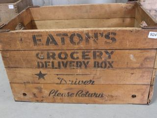 EATON S GROCERY DElIVERY WOODEN CRATE