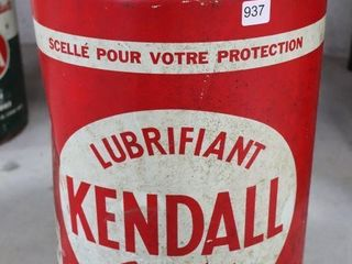 KENDAll 5 GAllON lUBRICANT CAN PARTIAllY FUll