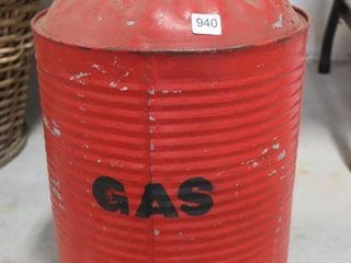 5 GAllON GAlVANIZED FUEl CAN