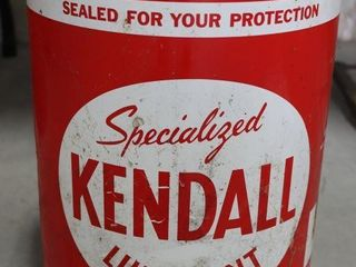 KENDAll 5 GAllON lUBRICANT CAN  FUll