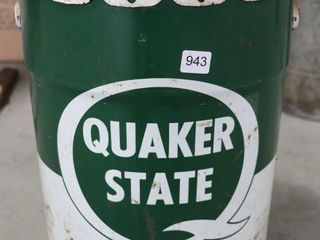 QUAKER STATE 5 GAllON MOTOR OIl CAN