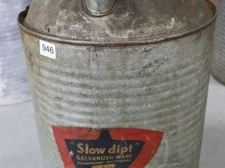 SlOW DIP GAlVANIZED FUEl CAN
