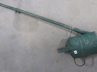 GAlVANIZED WATERING CAN W  lONG SPOUT 28