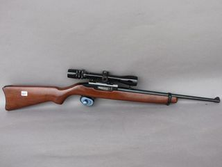 RUGGER  22 SEMI AUTOMATIC BUSHNEll GUN W  SCOPE