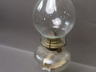 GlASS OIl lAMP WITH CHIMNEY   18 H