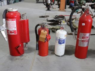 4 ASSORTED FIRE EXTINGUSHERS