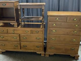 Ethan Allen Chest, Dresser, Nightstand And Side