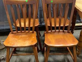 4 Maple Chairs Seat Height 18