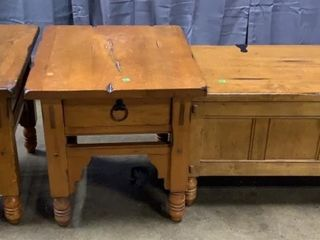 Coffee Table With Storage 42x20x19, 2 End Tables