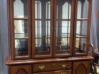 Dixie 2 Pc China Cabinet 60x17x90