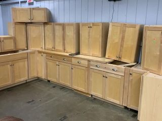 Natural Color Cabinets Over All 74x168