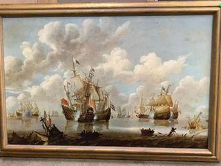 Pirate Ship Scene Print