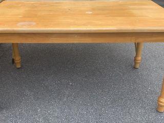 Wood Table; Damaged 60x36x30