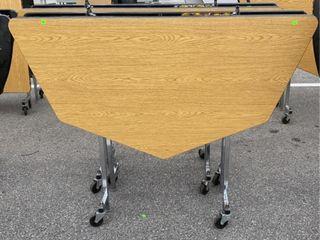 2 Folding Tables On Wheels; Damage 56 W