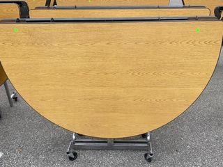 2 Folding Tables On Wheels 59 W