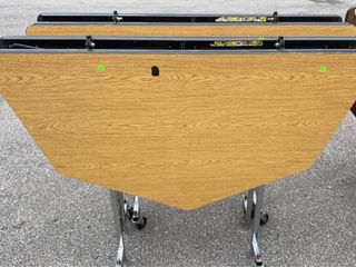 2 Folding Tables On Wheels 56 W
