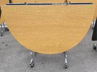 Folding Table On Wheels 59 W