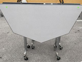 2 Folding Tables On Wheels Largest 57 W