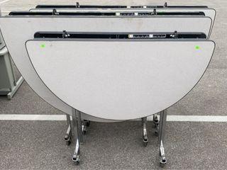 3 Folding Tables On Wheels Largest 59 W