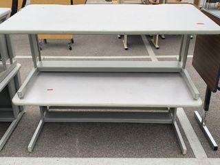 2 Tables; Damaged 60x30x23