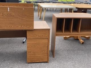 Pressed Wood Hutch Top Desk Unit; As Is