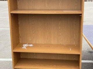 Pressed Wood Bookshelf 36x12x73