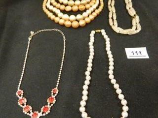 Necklaces Beaded  Rhinestone