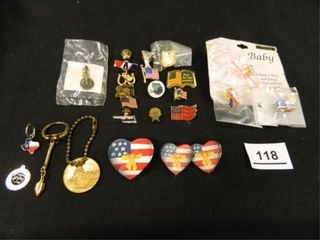 lapel Pins 18  Charms 2