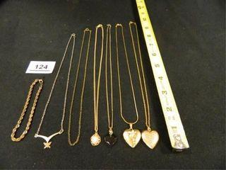 Necklaces 6  Bracelet 1