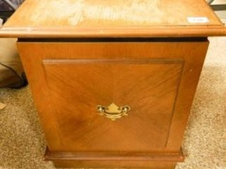 Wooden Side Table  Top lifts