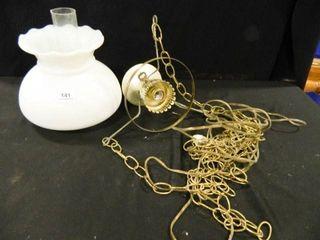 Hanging lamp w Shade  Vintage