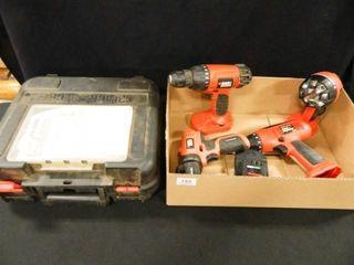 Black   Decker Drills 2  light  Case