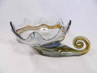 Cornucopia  Blown Glass