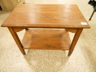 Wooden Table  15  x 25  x 191 2  h