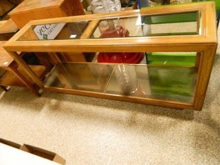 Occasional Table  Wood   Glass