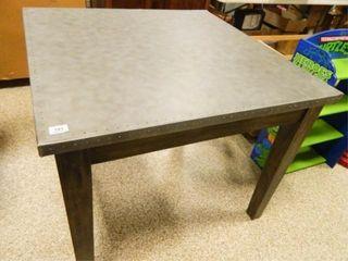 Table w Metal Top  Wooden legs