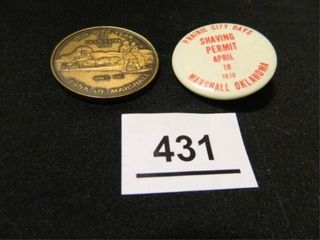 Marshall Oklahoma  Button