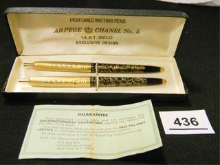 Arpege   Chanel No  5 Writing Pens