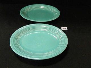 Turquoise Fiesta Platters  2