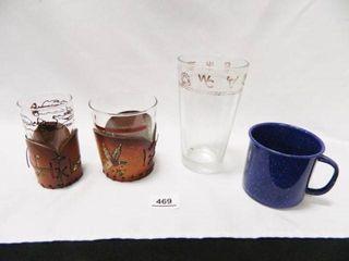 Drinking Glasses  Enamelware Cup