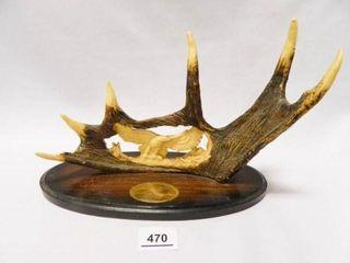 Antler w Carved Eagle Display