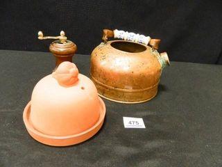 Garlic Baker  Copper Teapot no lid