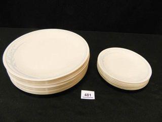 Correll Plates  Dinner Plates  18