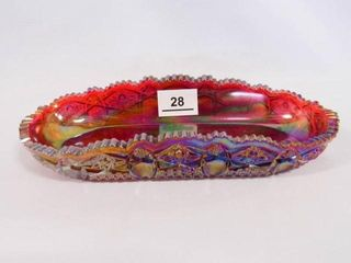 Carnival Glass Dish  Sawtooth Edge