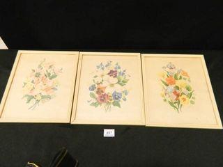 Floral Prints  1947  103 4  x 121 2
