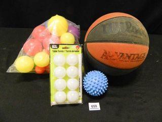 Wilson Basketball  Ping Pong Balls 8