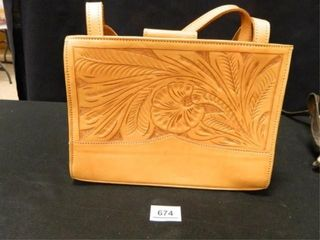 Tooled leather Bag Paraguay